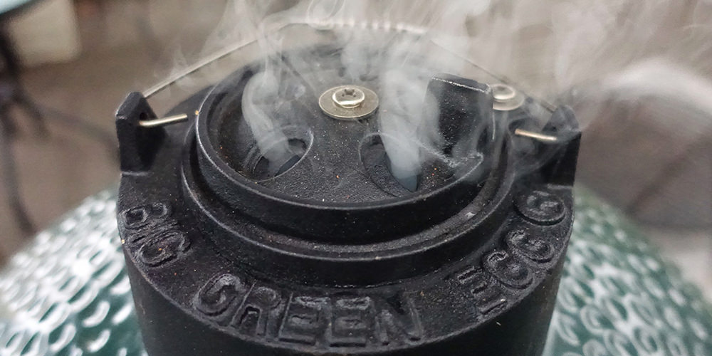 Smoke Coming From Big Green Egg