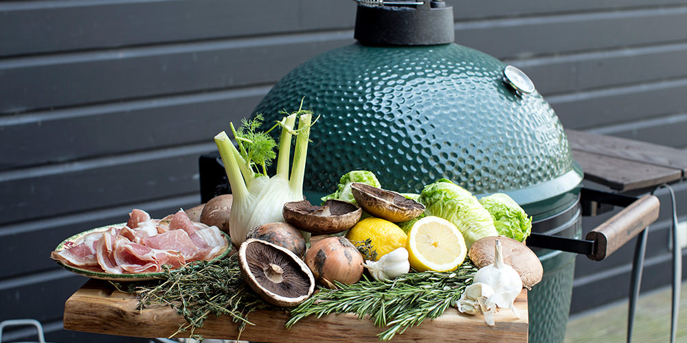 Vegetable Array in Big Green Egg