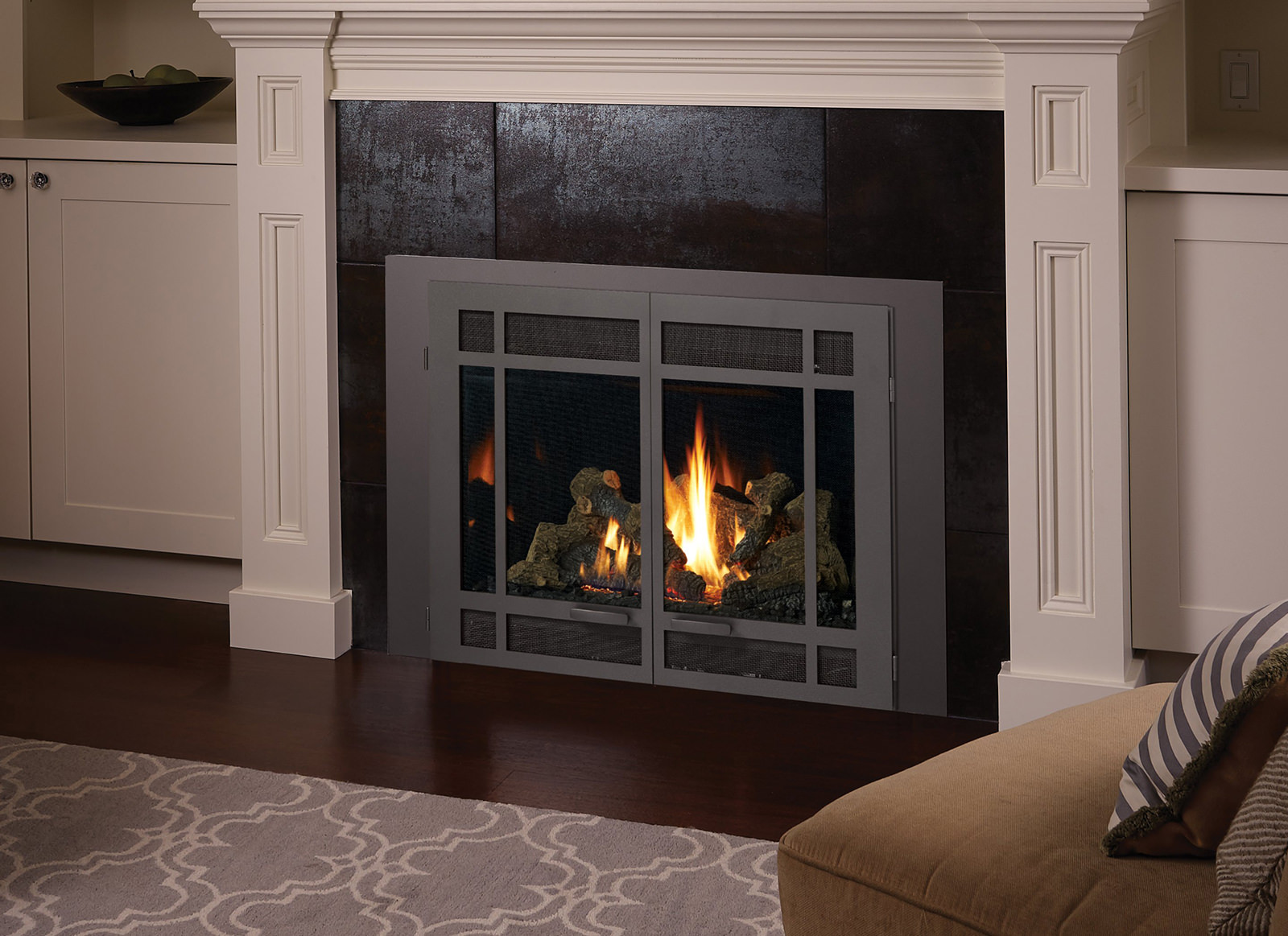 Fireplace Insert With Double Doors Fireplaces