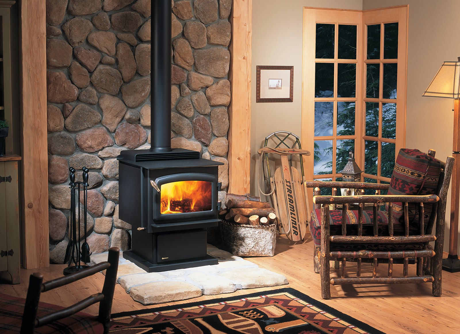 Regency F2400 Wood Stove Black Door