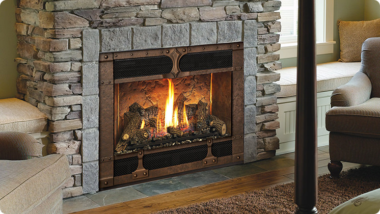 FireplaceX 564 High Output - IronWorks™ bronze face