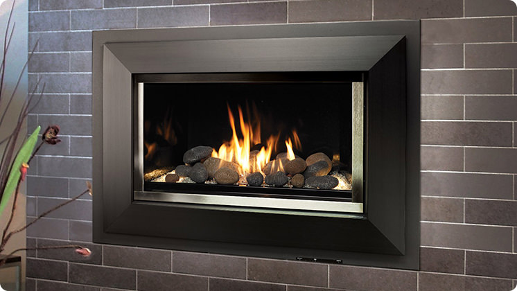 FireplaceX 564 High Output - Satin black Shadowbox™ face