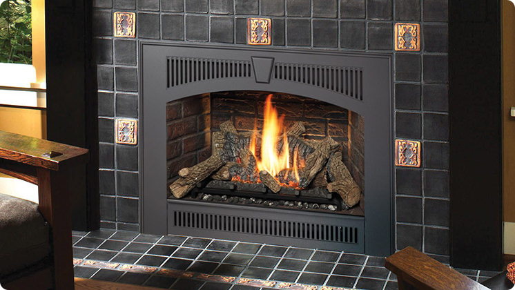 FireplaceX 564 High Output - Black painted Legacy™ face
