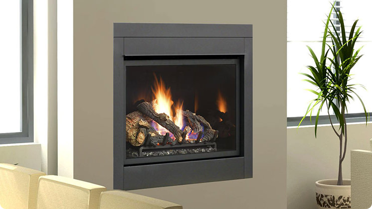 FireplaceX 864 Clean Face - Arched Artisan™ face