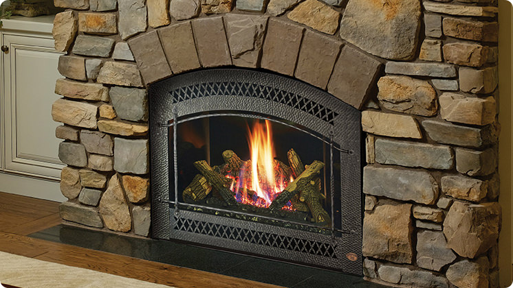 FireplaceX 864 HO - Arched Artisan™ face