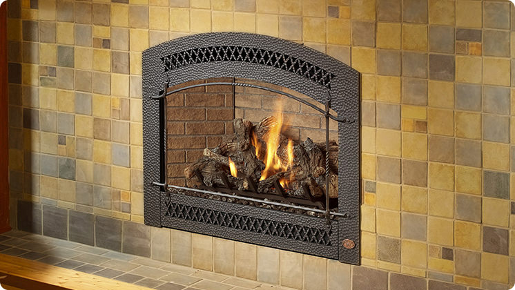 FireplaceX 864 TRV - Arched Artisan™ face