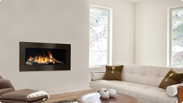 Regency Horizon HZ40E Medium Contemporary Fireplace - Verona Chocolate Surround
