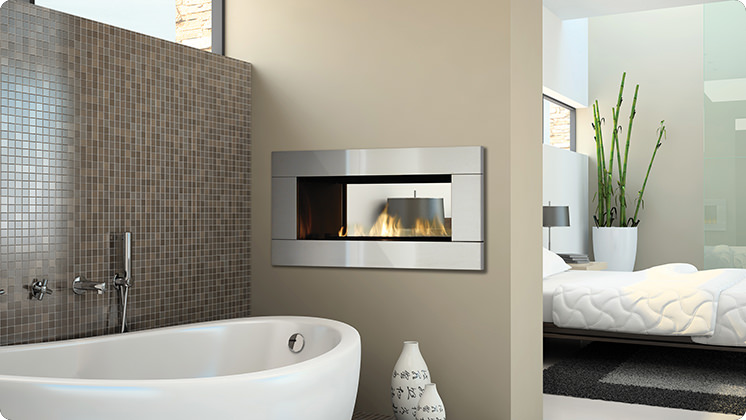 Regency Horizon HZ42STE See-Sided Fireplace - 4 Piece Stainless Steel