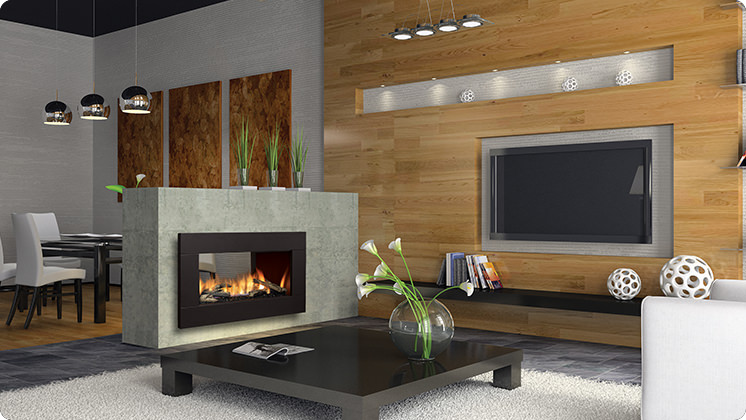 Regency Horizon HZ42STE See-Sided Fireplace - Driftwood Logset