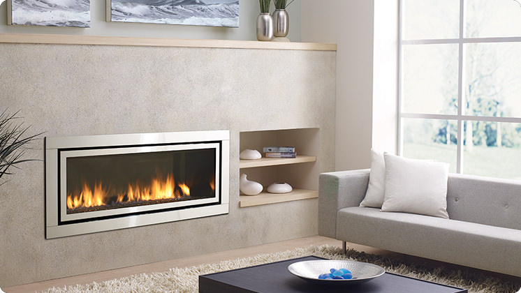 Regency Horizon HZ54E Large Contemporary Fireplace - Stainless Steel Faceplate