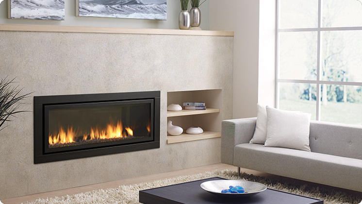 Regency Horizon HZ54E Large Contemporary Fireplace - Black Faceplate