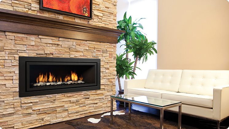 Regency Horizon HZ54E Large Contemporary Fireplace - Volcanic Stones