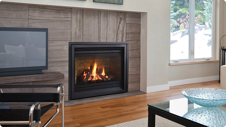 Regency Panorama P36D Medium Gas Fireplace - Vignette Flush Finish