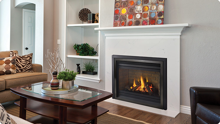 Regency Panorama P36D Medium Gas Fireplace - Vignette Stepped Finish
