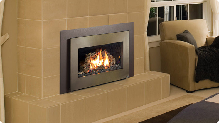 FireplaceX 32 DVS Mid-sized - Bronze shadowbox
