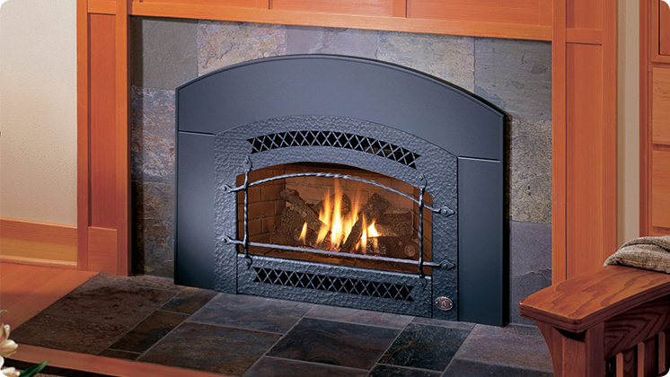 FireplaceX 34 DVL Large Gas Insert - Black painted Artisan™ face