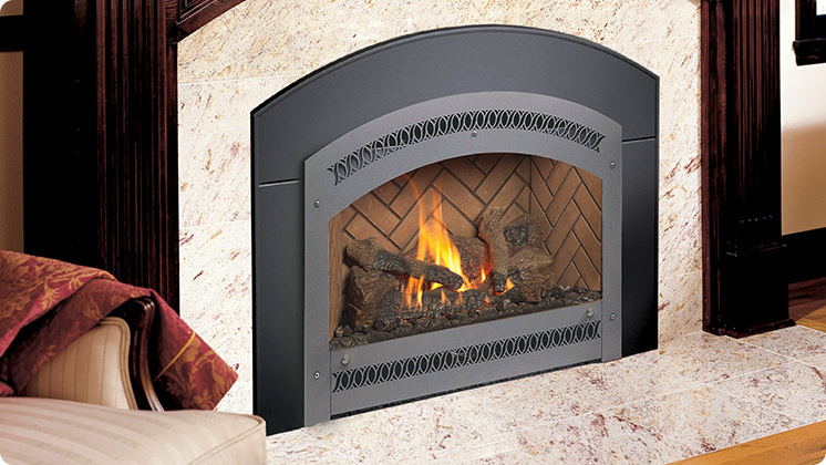 FireplaceX 34 DVL Large Gas Insert - Classic arch
