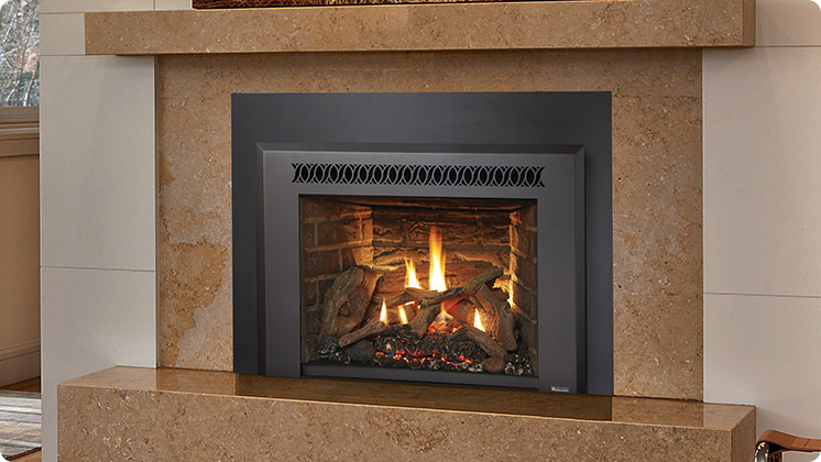FireplaceX 430 Mid-sized Clean Face - Black painted Metropolitan™ face