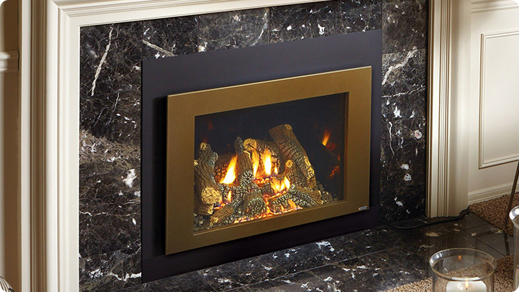 FireplaceX 616 Large Clean Face Insert - Bronze shadowbox face