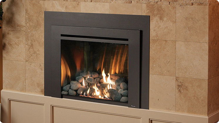 FireplaceX 616 Large Clean Face Insert - Black painted Times Square™ face