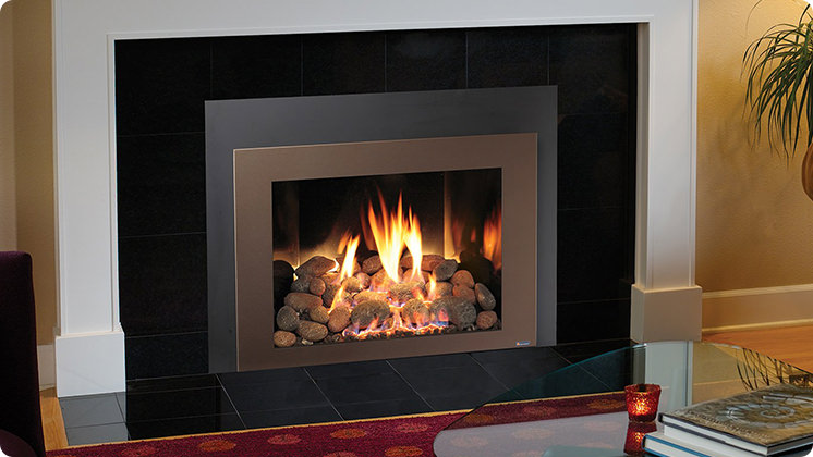 FireplaceX 616 Large Clean Face Insert - Bronze shadowbox