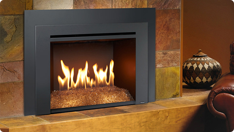 FireplaceX 616DF with Diamond-Fyre - Black painted Times Square™ face