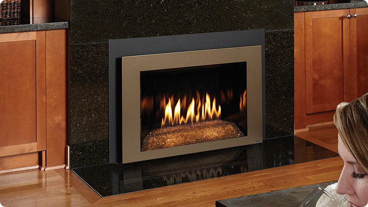 FireplaceX 616DF with Diamond-Fyre - Bronze shadowbox