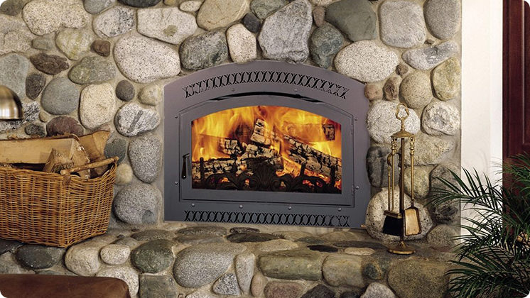 FireplaceX 36 Elite - Classic Arched black single door and face option