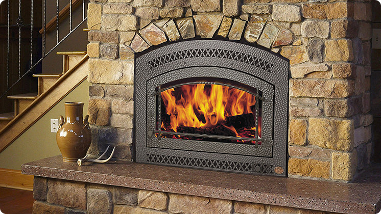 FireplaceX 36 Elite - Artisan™ single door hand hammered & wrought iron face