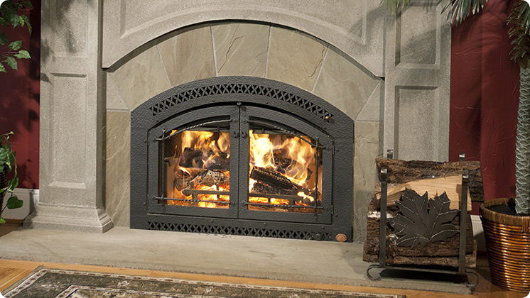 FireplaceX 44 Elite - Artisan™ double door hand hammered & wrought iron face