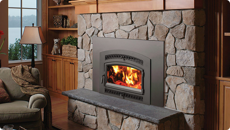 FireplaceX Flush Wood Plus Arched - Classic Arch™ gracefully arched blackpainted face