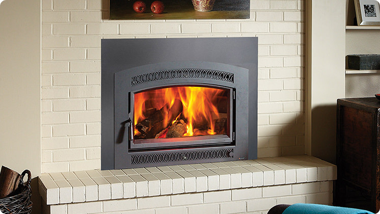 FireplaceX Large Flush Hybrid-Fyre™ - Classic Arch™ face, seamless one-piece panel and insert wiring kit