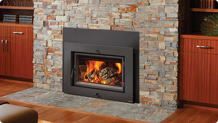 FireplaceX Large Flush Hybrid-Fyre™ - Shadowbox™ face with concealed convection outlet