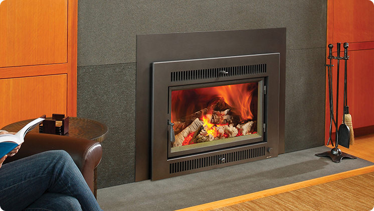 FireplaceX Large Flush Hybrid-Fyre™ - Universal™ face with vertical convection outlets