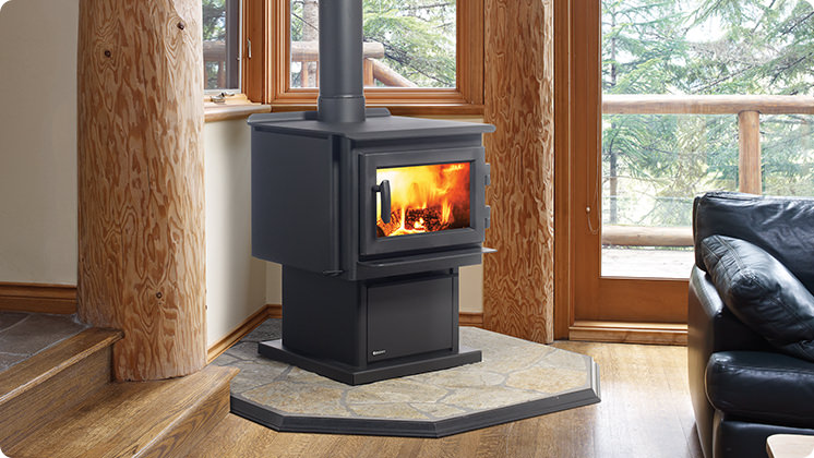 Regency F2400 Wood Stove - Contemporary Door